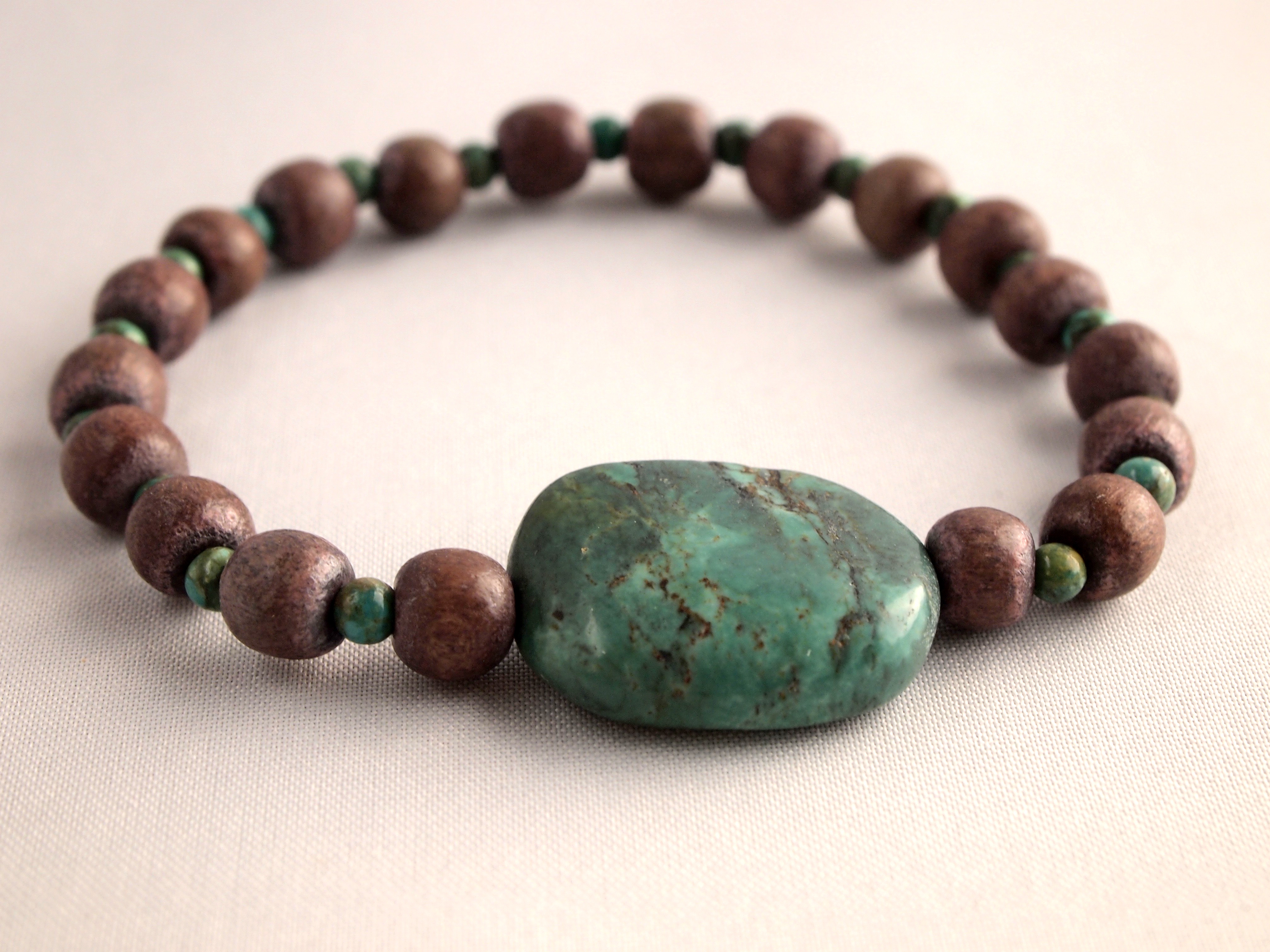 Wood & Turquoise Bracelet
