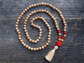 Sandalwood & Red Coral Sacred Mala
