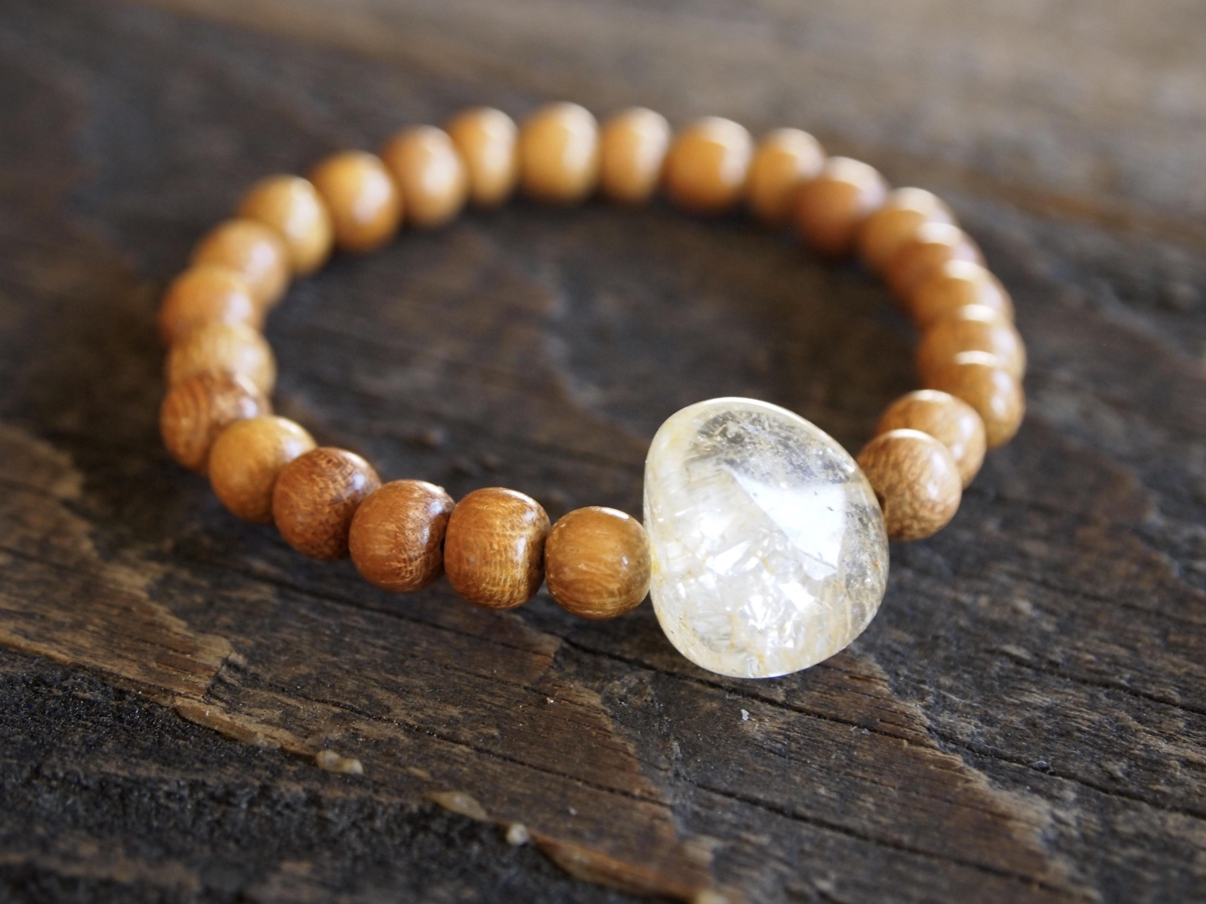 Wood & Citrine Bracelet