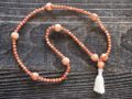 Red Coral & Wood Sacred Mala