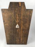 Quartz Triangle Pendant Necklace