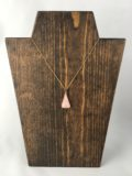 Pink Quartz Triangle Pendant Necklace