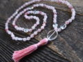 Strawberry Quartz & Clear Quartz Sacred Mala