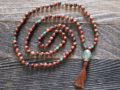 Wood & Green Jade Sacred Mala